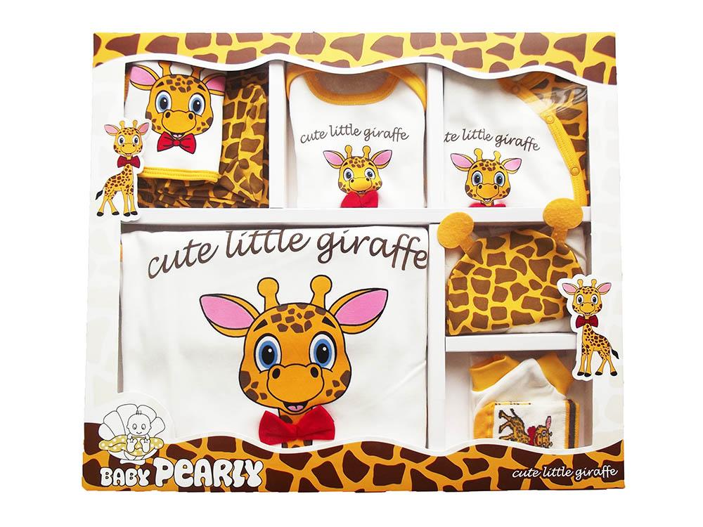 PEARLY Zürafalı 10 Parça Bebe Zıbın Seti