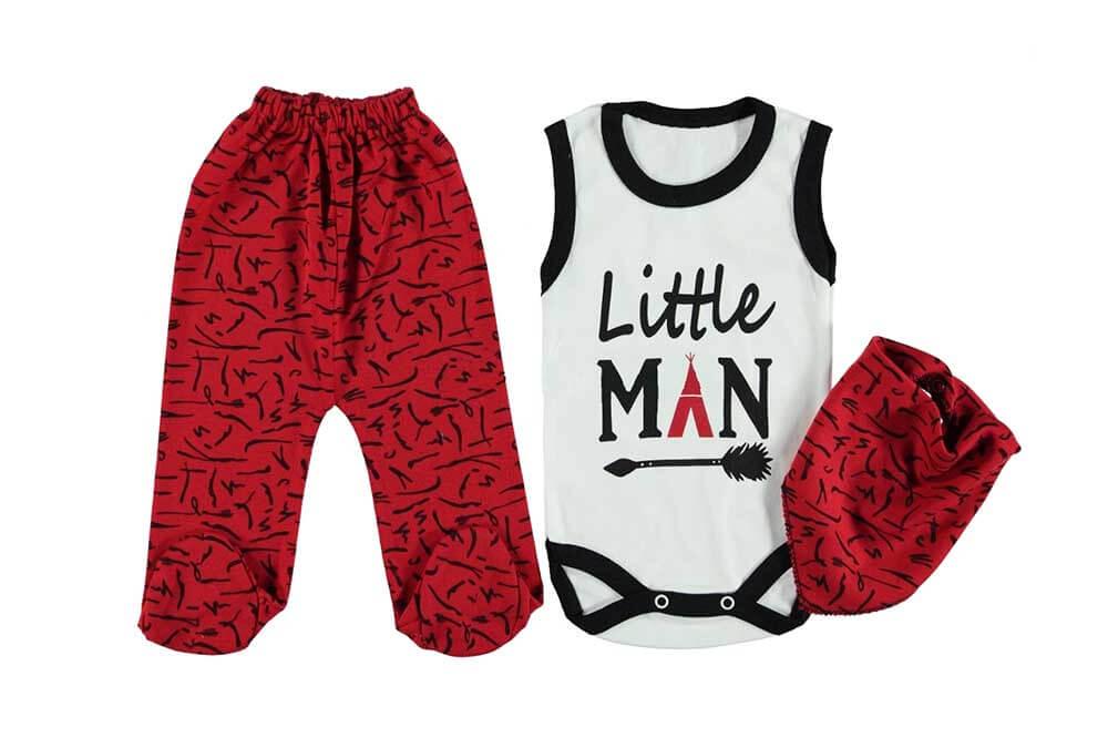 Bebeci Little Man Fularlı Badili 3'lü Takım