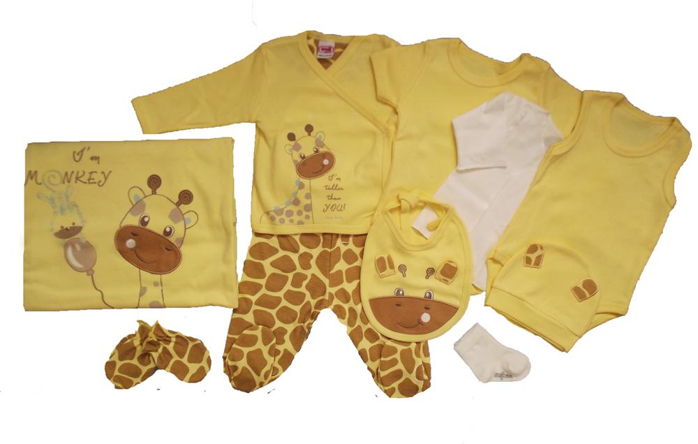 İmaj Zürafa Nakışlı 10'lu Bebe Zıbın Seti