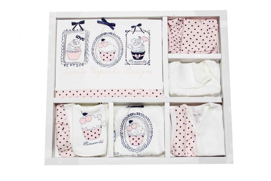 Miniworld Lovely Cupcake 10 Parça Bebek Zıbın Seti