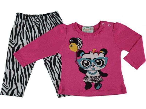 Zebralı Panda Bebe Takım