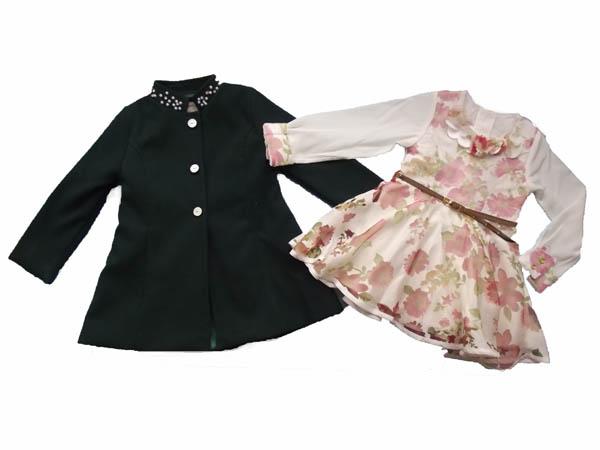 Kaşe Montlu Elbiseli Kız Takım