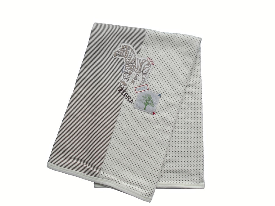 Caramell Zebra Nakışlı Penye Battaniye