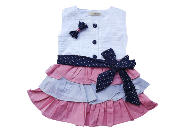Kat Kat Etekli  Kız Elbise