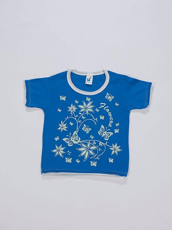 Taşlı Çiçekli T-Shirt