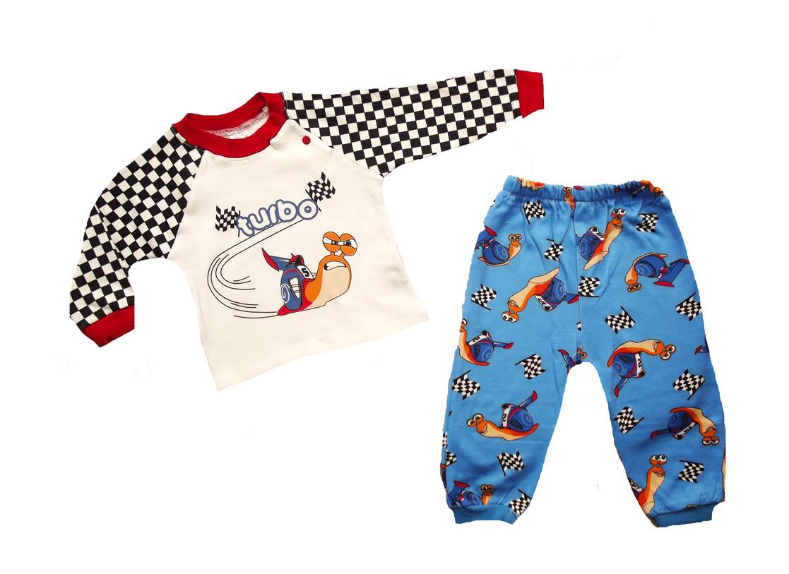 Damalı Baskılı Bebe Pijama Takımı