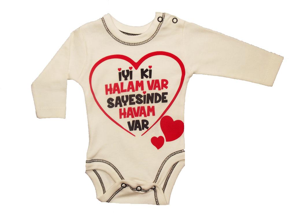 BABY COOL İyiki Halam Var Baskılı Bebe Badi