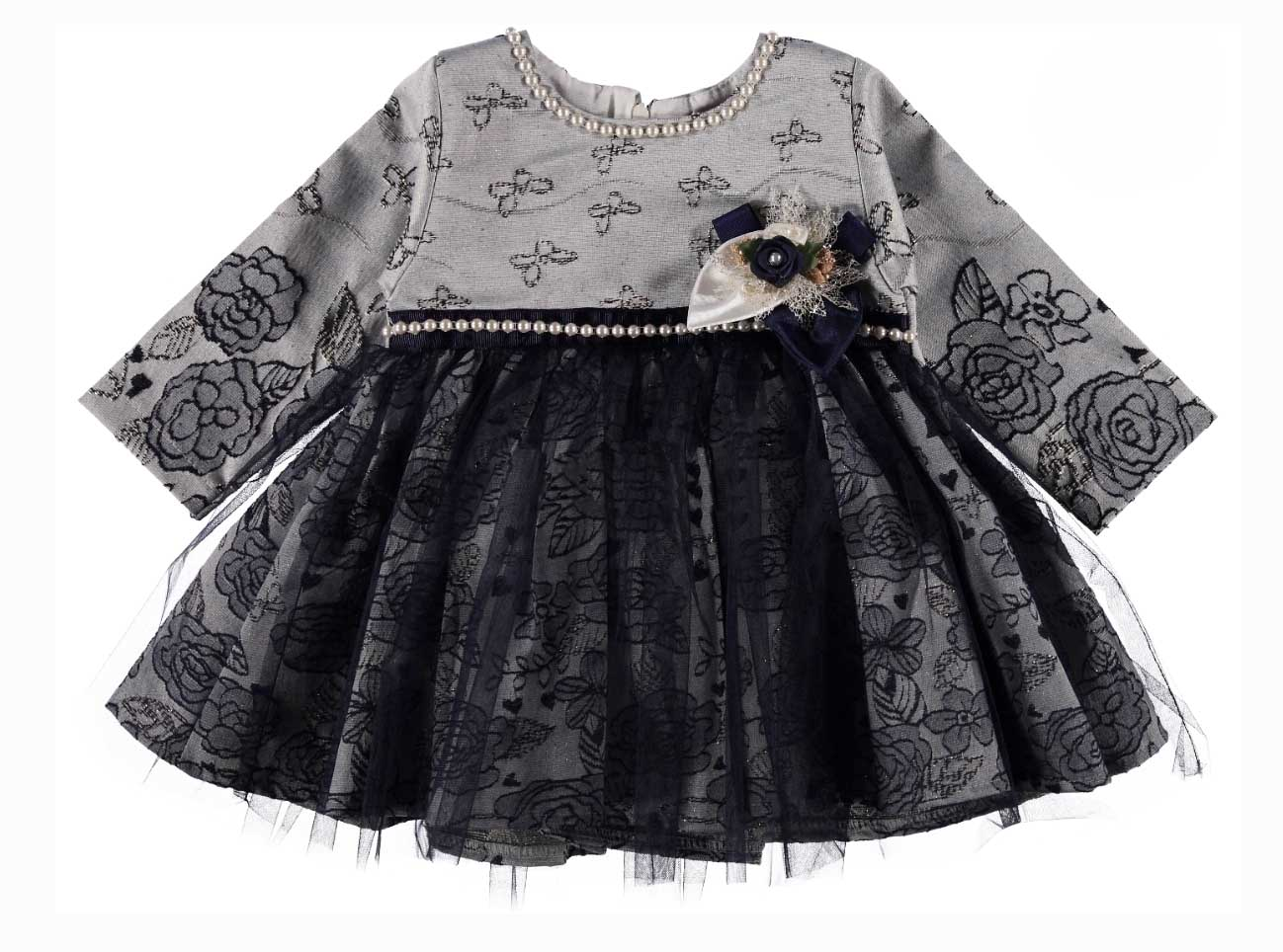 BABY SHE İşlemeli Şık Bebek Elbise