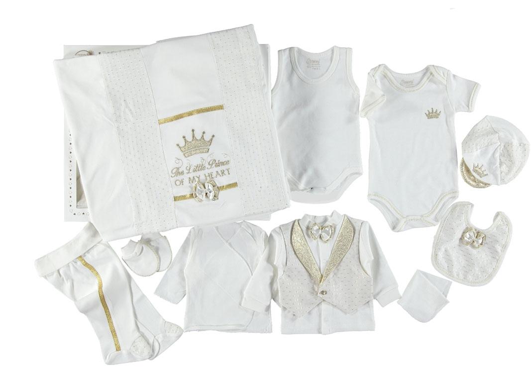 Nenny Baby Little Prince 10 Parça Bebek Zıbın Seti