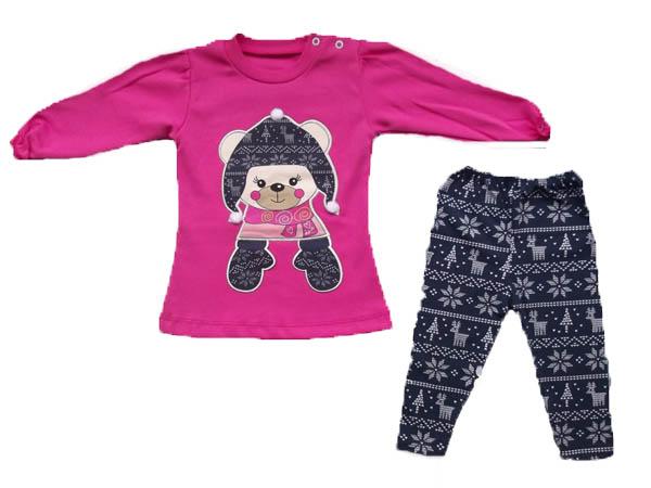Geyik Desenli Tunikli Bebe Takım