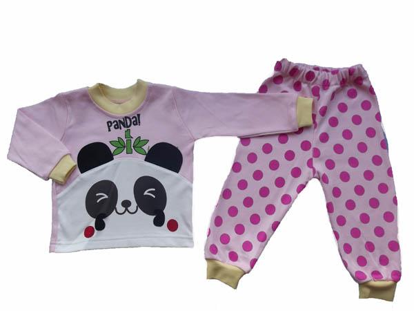 Panda Baskılı Bebe Takım