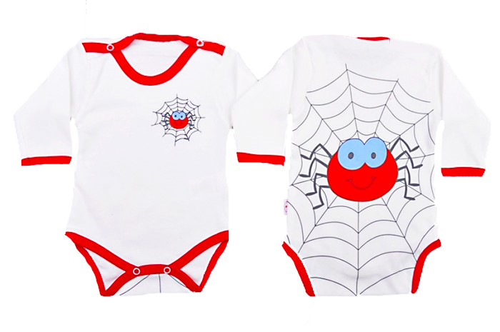 TAHA Örümcek Baskılı Bebe Badi