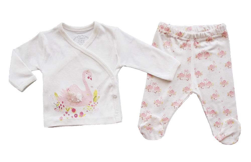 TONGS Zarif Kuğu 2'li Bebek Yeni Doğan Zıbın Takımı