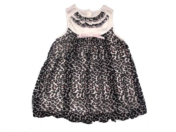 Leoparlı Şifon Balon Elbise