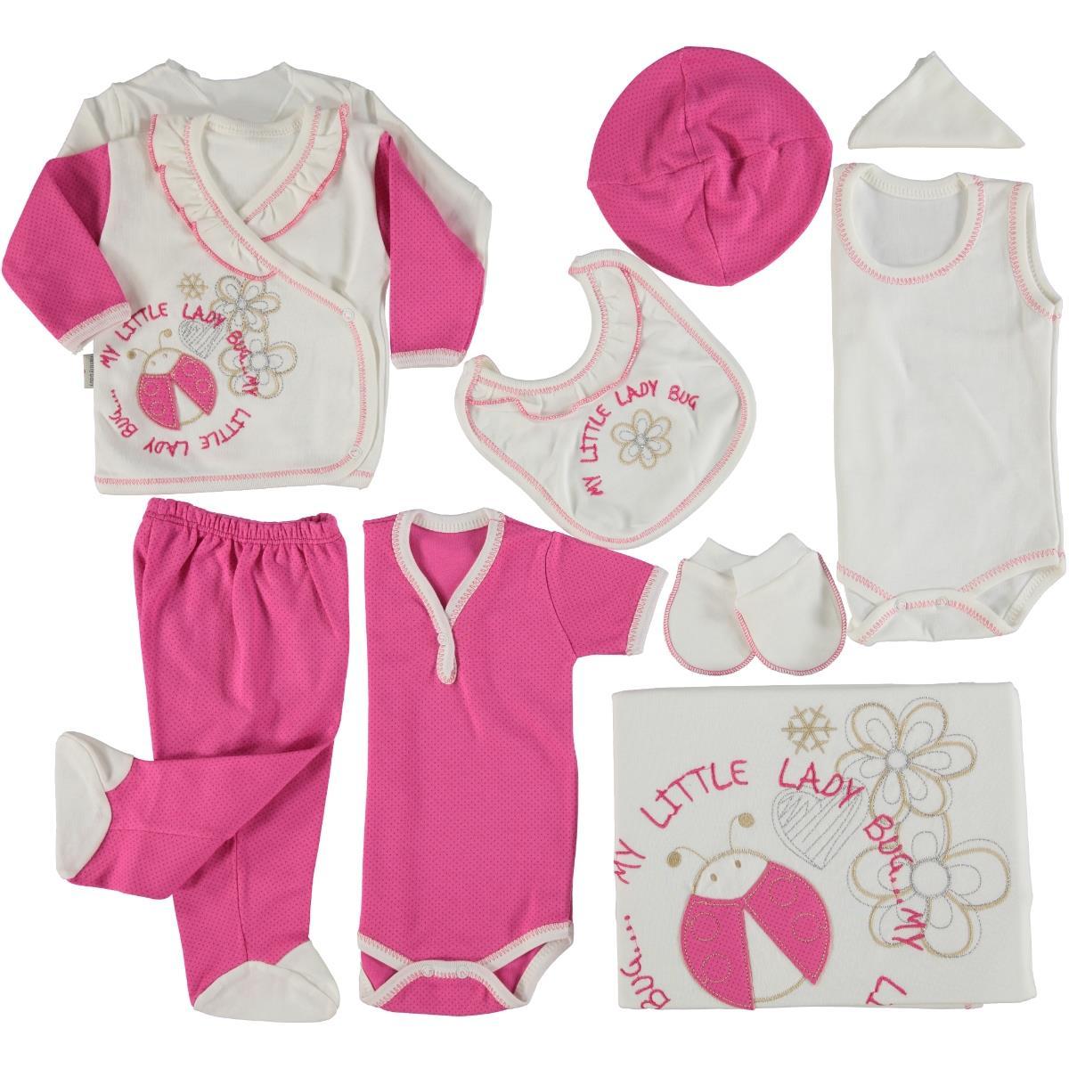 Nenny Baby Uğurböcekli 10 Parça Bebe Zıbın Seti