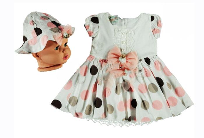 Lady Şapkalı Puanlı Bebe Elbise