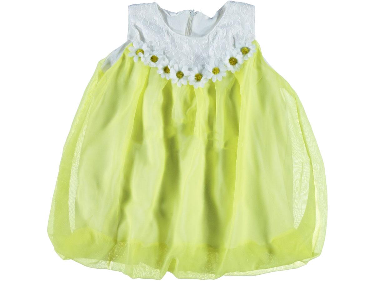 Papatyalı Şifon Elbise