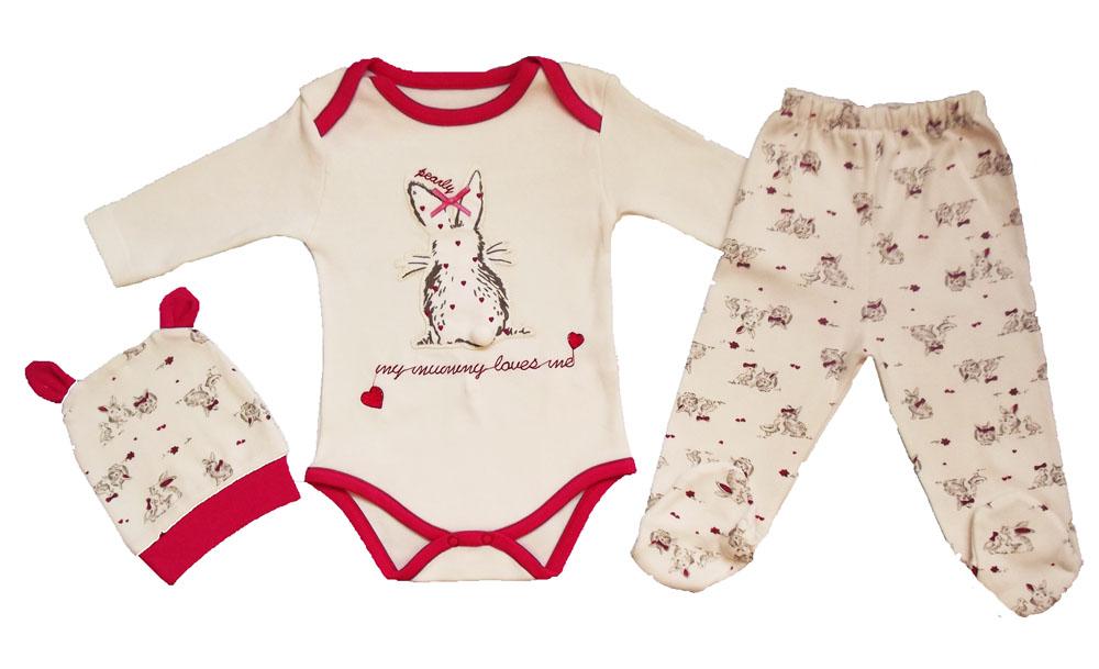 Tavşan Figürlü Badili Bebe Takım
