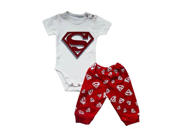 Süpermen Badili Bebe Takım