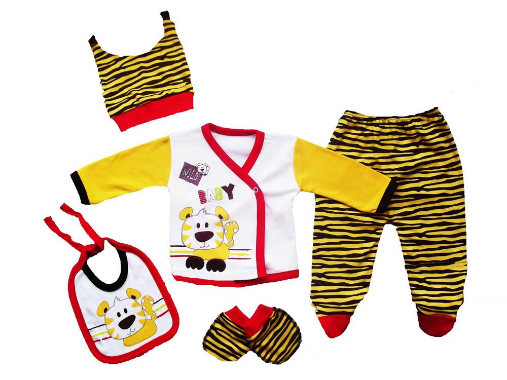 Mikilino Küçük Aslan Figürlü 5 Parça Bebe Zıbın
