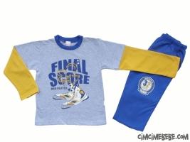 Final Score Baskılı Kışlık Pijama Takımı