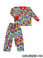 Mikrop Baskılı Pijama Takımı