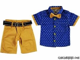 Papyonlu Gömlekli Erkek Takım