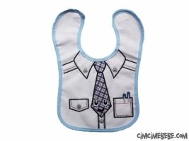 Kravat Baskılı Bebe Önlük