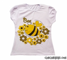 Arı Baskılı Kız T-Shirt