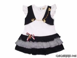 Bolerolu Denizci Bebe Elbise