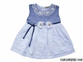 Dantel Yakalı Kız Elbise