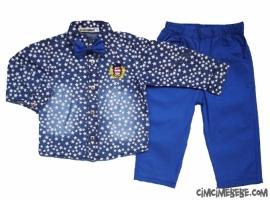 Yıldızlı Gömlekli Erkek Takım