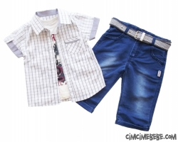 Gömlekli Kot Pantolonlu 3'lü Takım