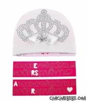 Kişiye Özel Kraliçe Taçlı Bebe Şapka