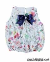 Çiçekli Dantel Balon Elbise