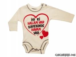İyiki Halam Var Baskılı Bebe Badi