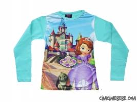 Prenses Digital Baskılı Kız Sweatshirt
