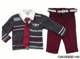 Kravatlı Triko Hırkalı Gömlekli Takım