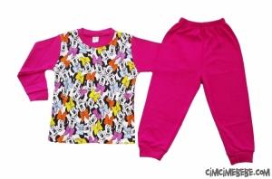 Mini Fareli Pijama Takımı