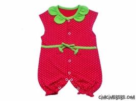 Çilek Figürlü Bebe Tulum