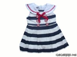 Yakalı Bahriyeli Elbise
