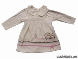 Kadife Kız Bebe Elbise