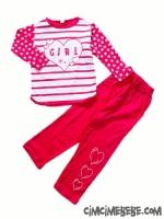Beberen Kalpli Kız Pijama Takımı 5-8