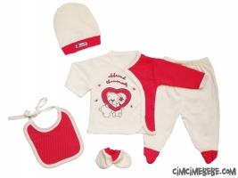 Kalpli Ayıcık 5'li Bebe Zıbın