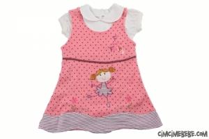 Kız Nakışlı Badili Bebe Elbise