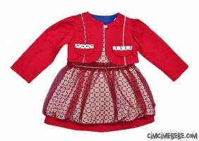 Bolerolu Tüllü Kız Elbise
