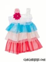 Katkat Renkli Tüllü Elbise