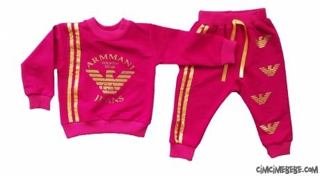 Armmani Altın Yaldızlı Kız Eşofman Takımı
