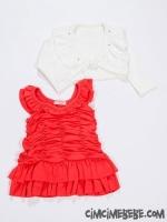 Bolerolu Taşlı Elbise