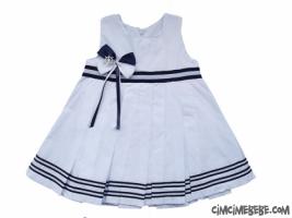Çizgili Denizci Bebe Elbise